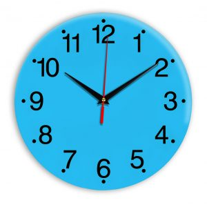 Настенные часы Ideal 935 синий светлый