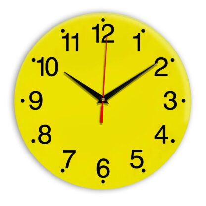 Настенные часы Ideal 935 желтые