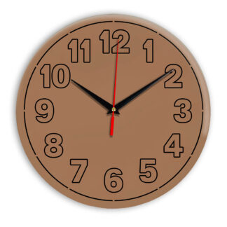 Настенные часы Ideal 936 коричневый светлый