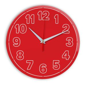 Настенные часы Ideal 936 красный