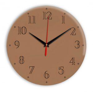 Настенные часы Ideal 937 коричневый светлый