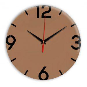 Настенные часы Ideal 941 коричневый светлый