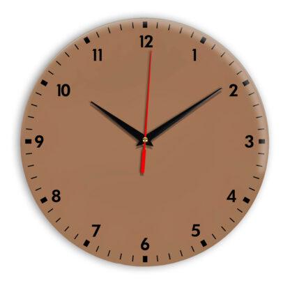 Настенные часы Ideal 942 коричневый светлый