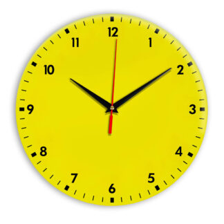 Настенные часы Ideal 942 желтые