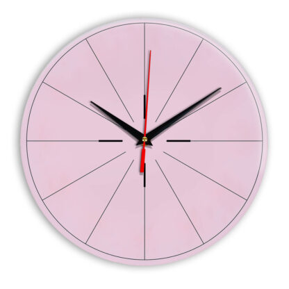 Настенные часы Ideal 954 розовые светлый