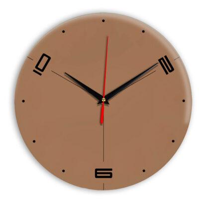 Настенные часы Ideal 955 коричневый светлый
