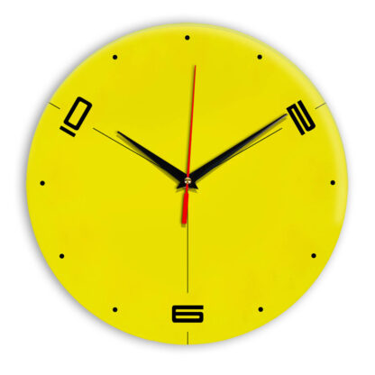 Настенные часы Ideal 955 желтые
