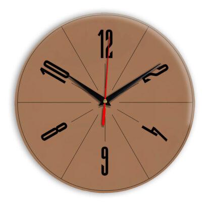 Настенные часы Ideal 956 коричневый светлый