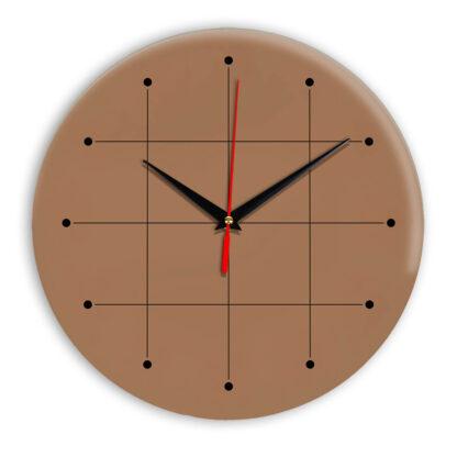 Настенные часы Ideal 957 коричневый светлый
