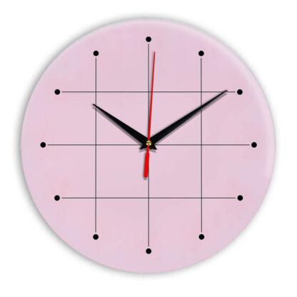 Настенные часы Ideal 957 розовые светлый