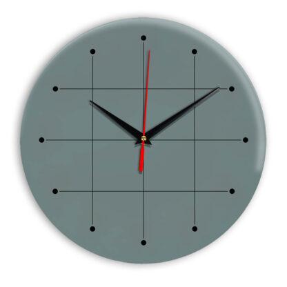 Настенные часы Ideal 957 серо синий