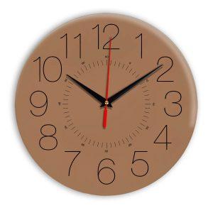 Настенные часы Ideal 959 коричневый светлый