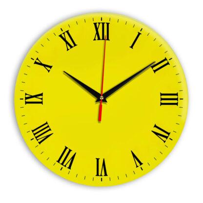 Настенные часы Ideal 960 желтые