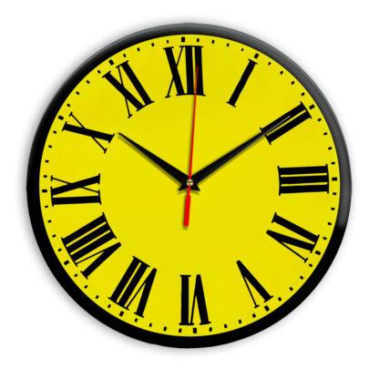 Настенные часы Ideal 964 желтые