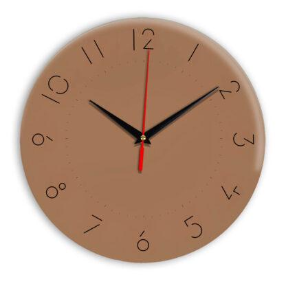 Настенные часы Ideal 994 коричневый светлый