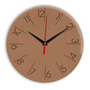 Настенные часы Ideal 995 коричневый светлый