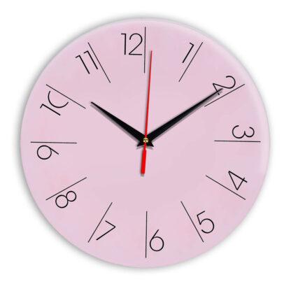 Настенные часы Ideal 995 розовые светлый