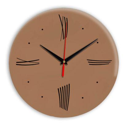 Настенные часы Ideal Modern-Roman-Wall коричневый светлый