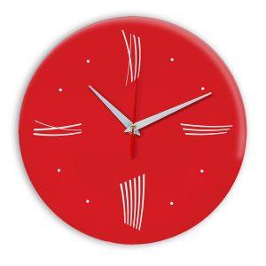 Настенные часы Ideal Modern-Roman-Wall красный