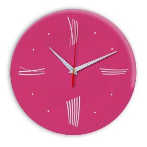 Настенные часы Ideal Modern-Roman-Wall розовые