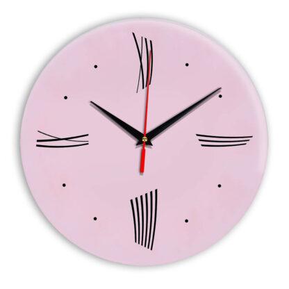 Настенные часы Ideal Modern-Roman-Wall розовые светлый