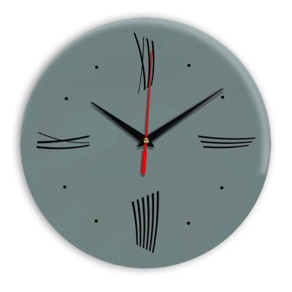 Настенные часы Ideal Modern-Roman-Wall серо синий