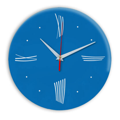Настенные часы Ideal Modern-Roman-Wall синий