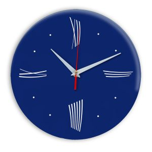Настенные часы Ideal Modern-Roman-Wall синий темный
