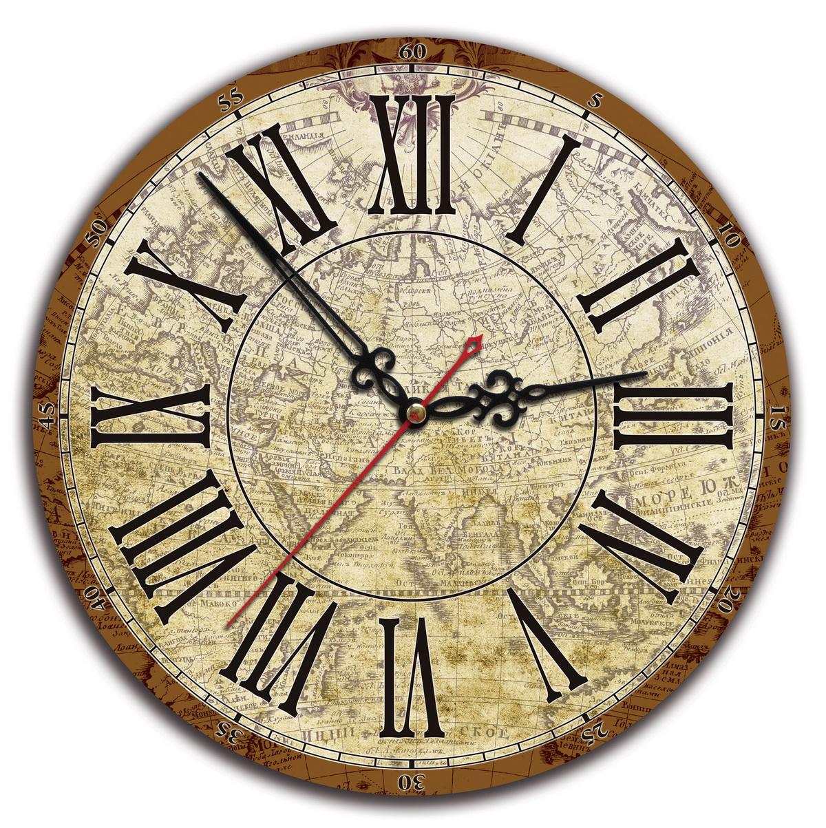 Часы настенные «Карта Санкт Петербурга»