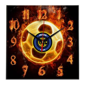 Настенные часы «Огненный футболист Inter»