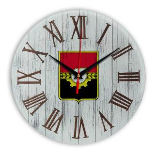 Печать под стеклом- Деревянные настенные часы Кемерово 07