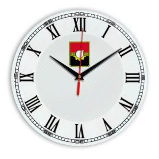 Стеклянные настенные часы с логотипом Кемерово 09
