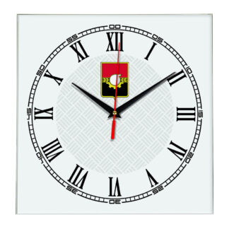 Сувенир настенные часы из стекла Кемерово 17