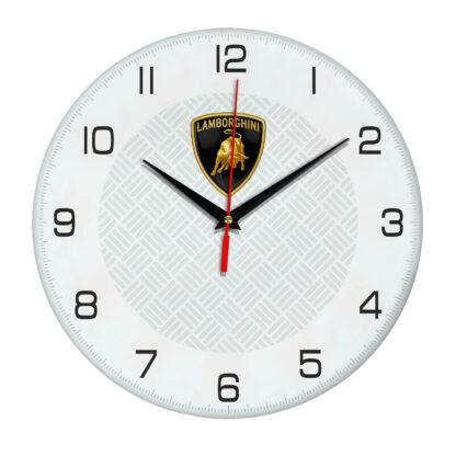 Настенные часы с символикой Lamborghini 04
