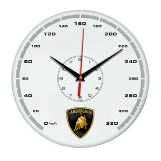 Настенные часы «lamborghini white»