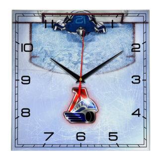 Настенные часы Вратарь на льду ХК Lokomotiv Yaroslavl 03