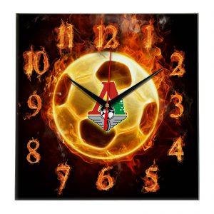 Настенные часы «Огненный футболист Локомотив Москва»