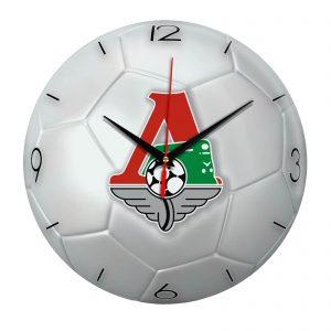 Настенные часы «Футбольный мяч Локомотив Москва»