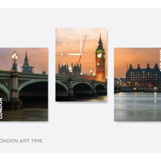 Модульная картина с часами «London-art-time»