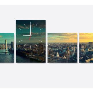 Модульная картина с часами «London-time»