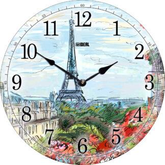 большие деревянные часы из МДФ mdparis005-d420