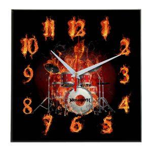 Megadeth настенные часы 10