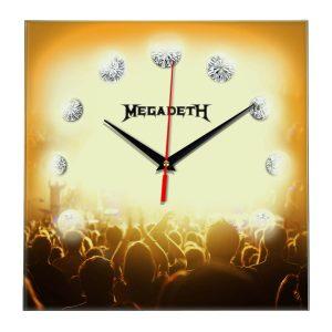 Megadeth настенные часы 12