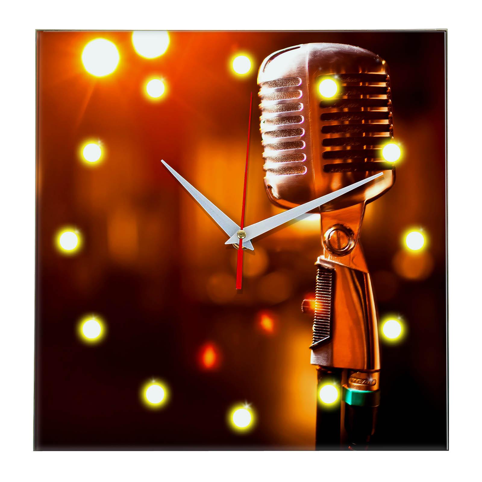 Настенные часы «microphone»