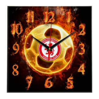 Настенные часы «Огненный футболист Middlesbrough»