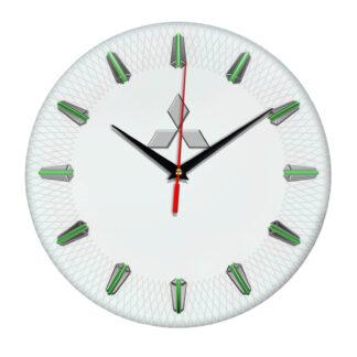 Настенные часы с эмблемой Mitsubishi 07