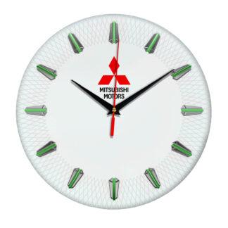 Настенные часы с эмблемой Mitsubishi 3 07