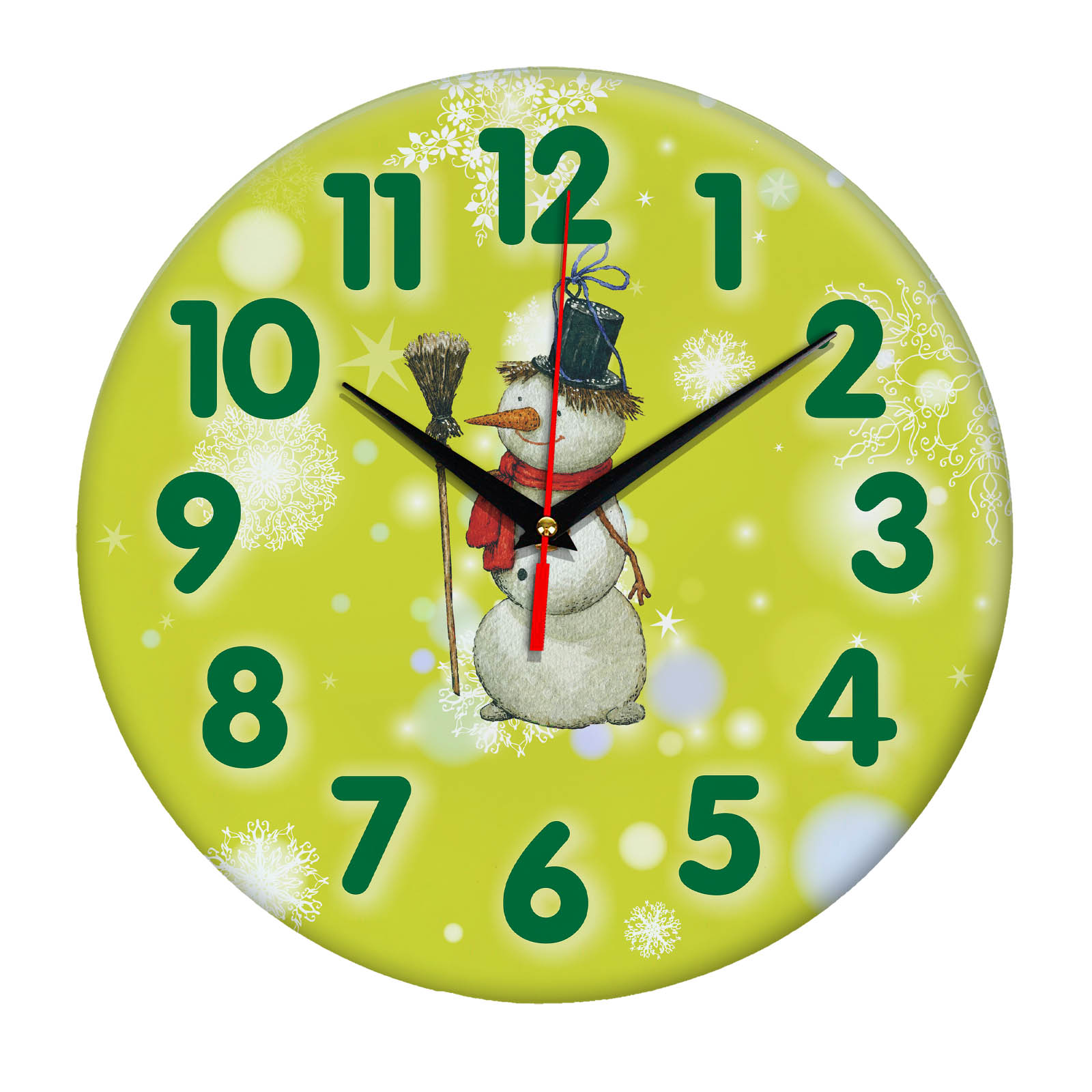 Часы подарок Снеговик