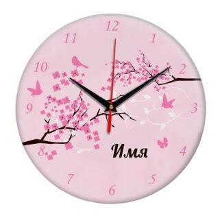 Настенные часы именные «Весна»