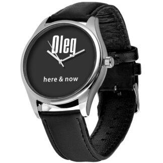 Именные наручные часы 01 серебро